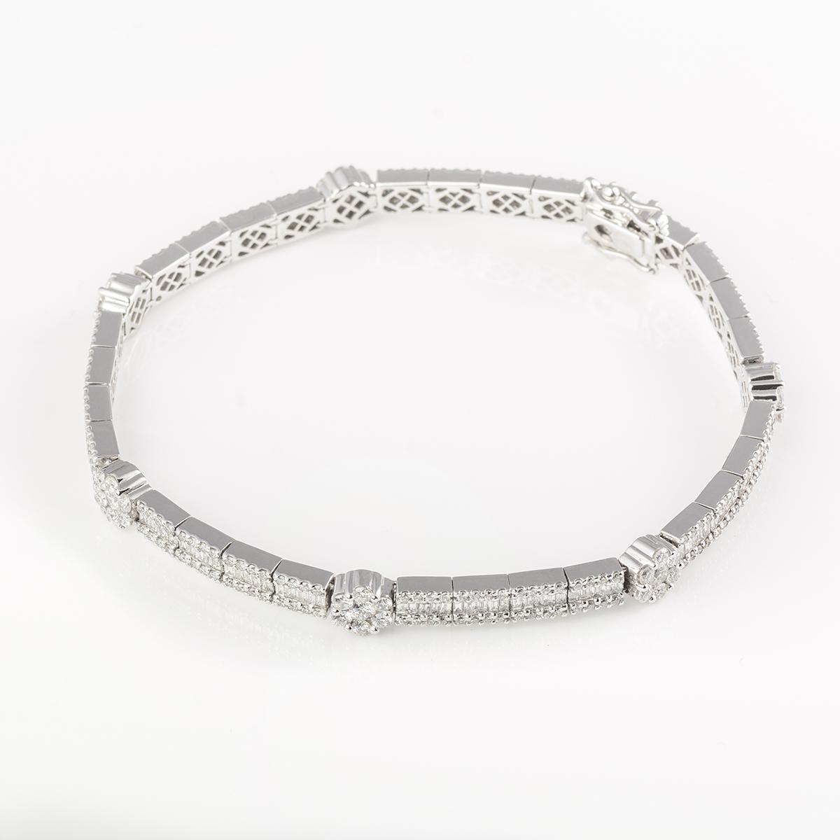 8dce5caac70b Pulsera oro blanco y diamantes – Asscher Joyas